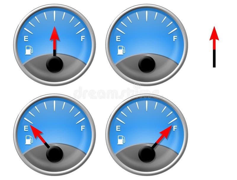 benzynowy wymiernik ilustracja wektor