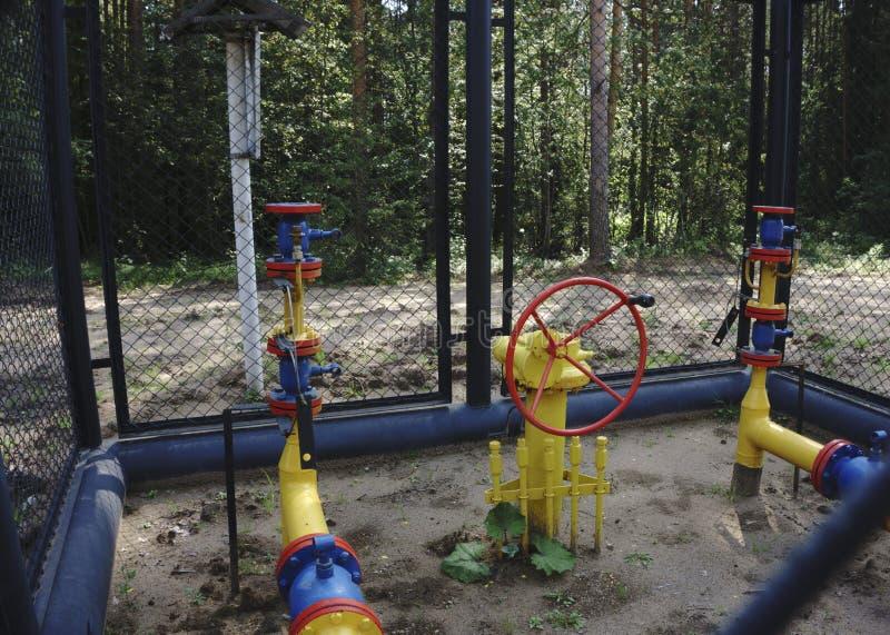 Benzynowy zakład przetwórczy z drymby linii klapami zdjęcia stock