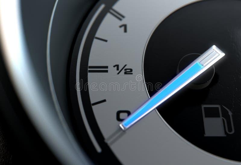 Benzyny Gage Pusta Błękitna igła royalty ilustracja