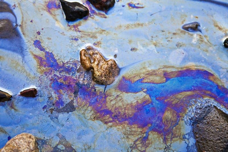 benzyny nafciana łat woda zdjęcie stock