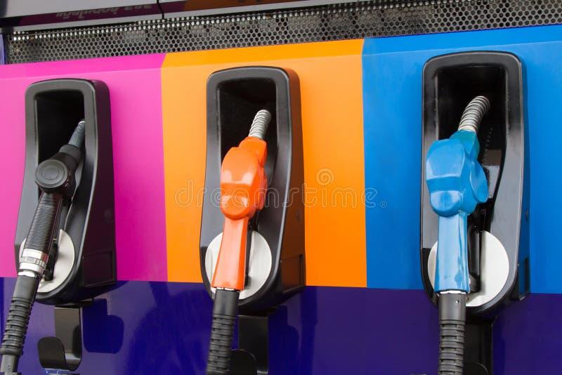 Benzyny pompy nozzles zdjęcie royalty free