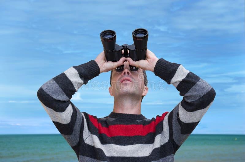 Beobachter stockfotografie