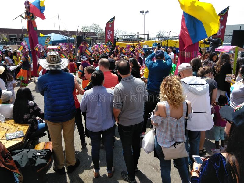 Beobachtung von Kolumbien-Tanz stockfoto