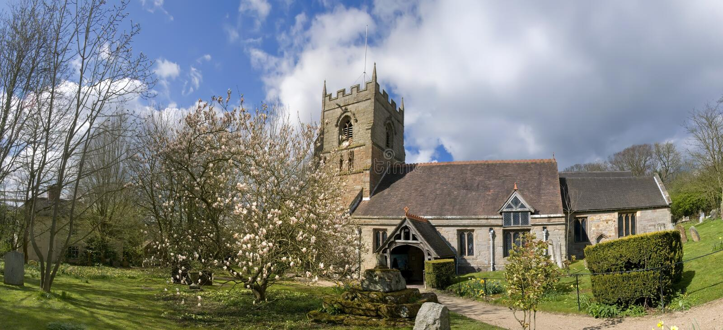 Beoley Kirche stockfotos