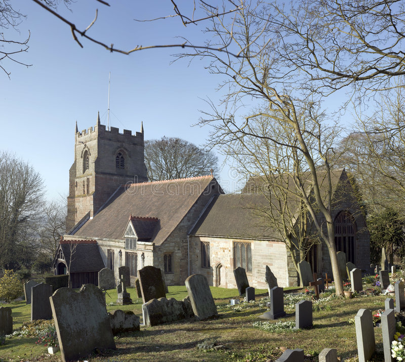 beoley kościoła zdjęcie royalty free