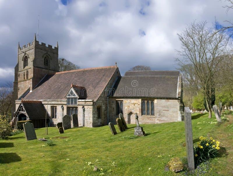 beoley kościoła fotografia stock
