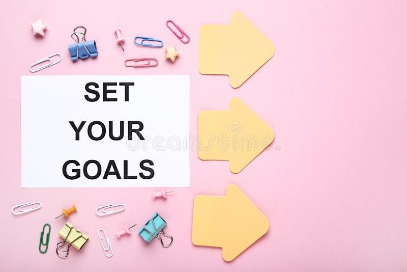 Bepaal uw doelstellingen stock afbeeldingen