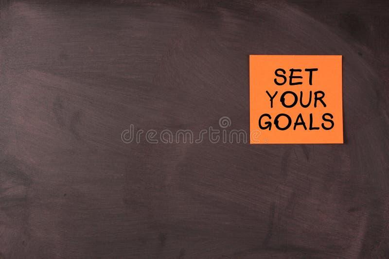 Bepaal uw doelstellingen stock foto's