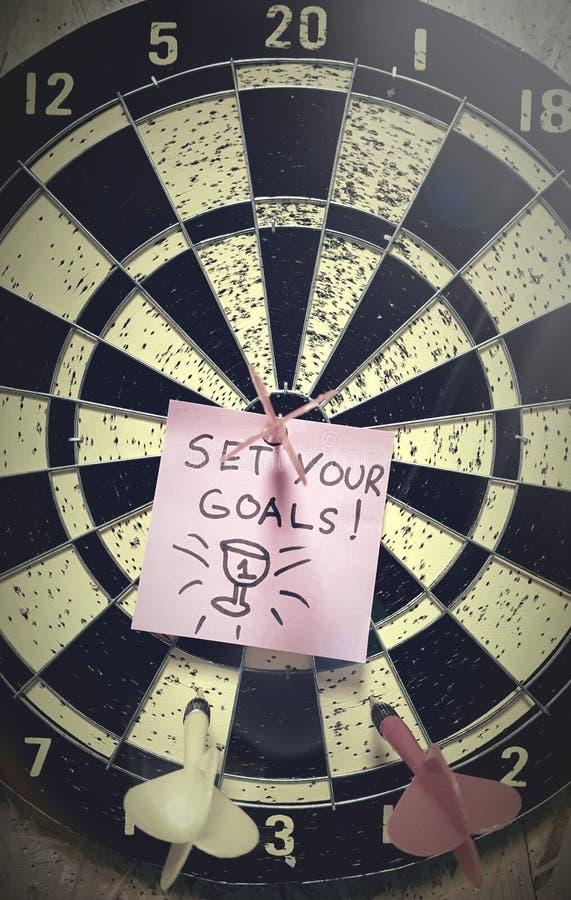 Bepaal uw doelstellingen en krijg resultaten stock foto