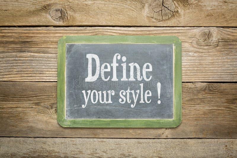 Bepaal uw stijl stock afbeeldingen
