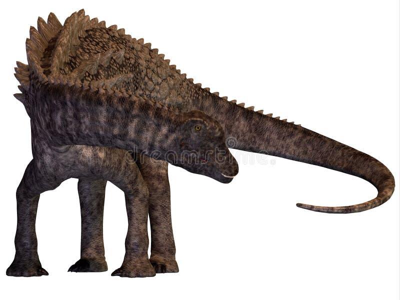 Bepansrad dinosaurie för Ampelosaurus stock illustrationer