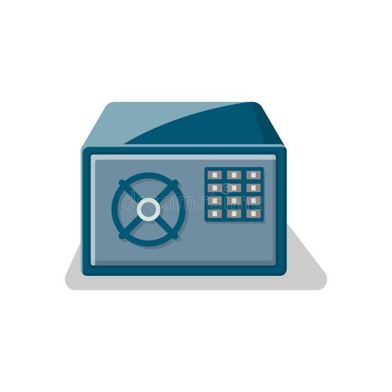 Bepansrad säker ask med låset för elektronisk kombination stock illustrationer