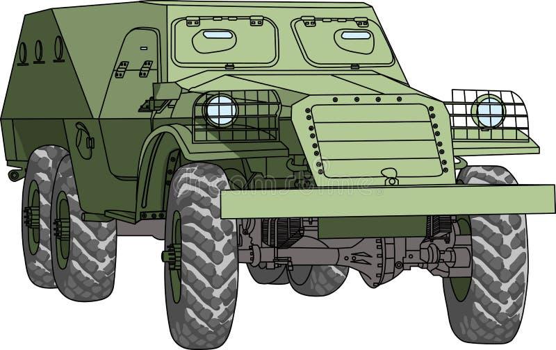 Bepansrad soldat-bärare för vektor stock illustrationer