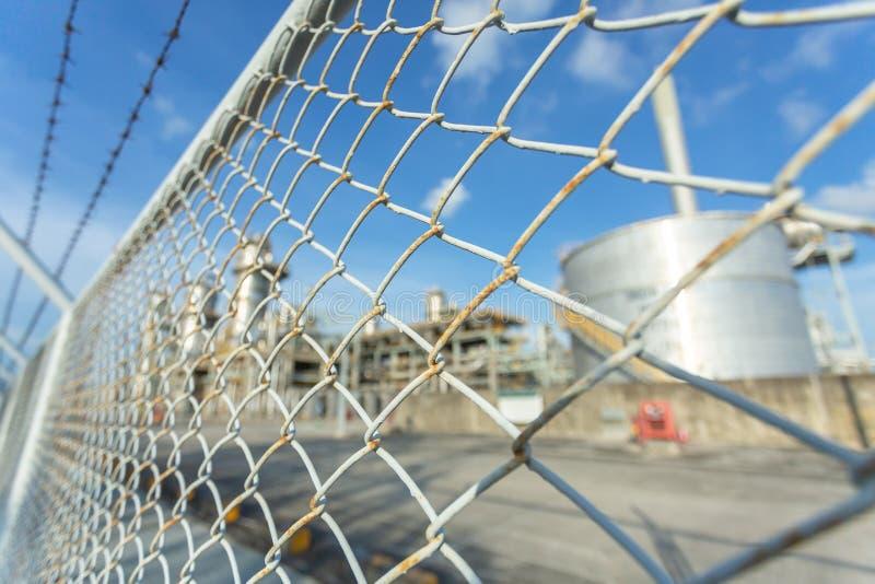 Beperkt gebied van Elektrische centrale, Industriële rookstapel van elektrische centrale royalty-vrije stock afbeeldingen