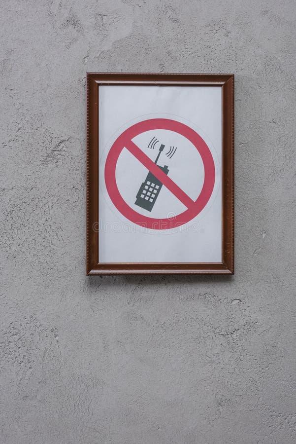 beperkt telefoonaanplakbiljet stock afbeelding