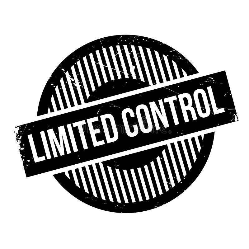 Beperkte Controle rubberzegel royalty-vrije stock fotografie