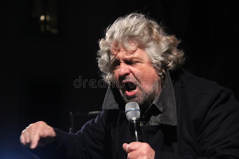 Beppe Grillo movement five stars royalty free stock images