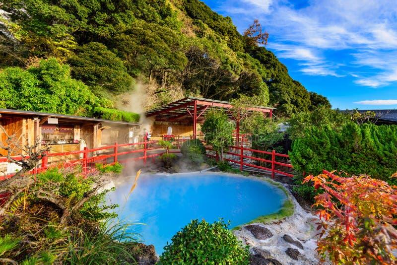 Beppu Japonia Gorące wiosny obrazy royalty free