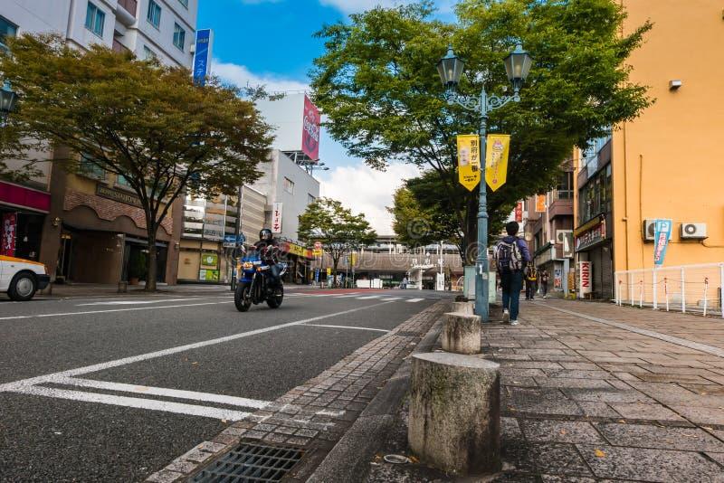 Beppu Street royalty free stock photography