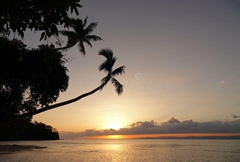 Beqa wyspy zmierzch, Fiji zdjęcie royalty free