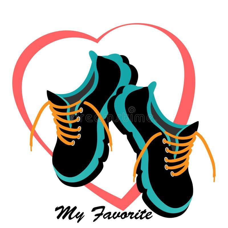 Bequeme Tennis-Schuhe stock abbildung