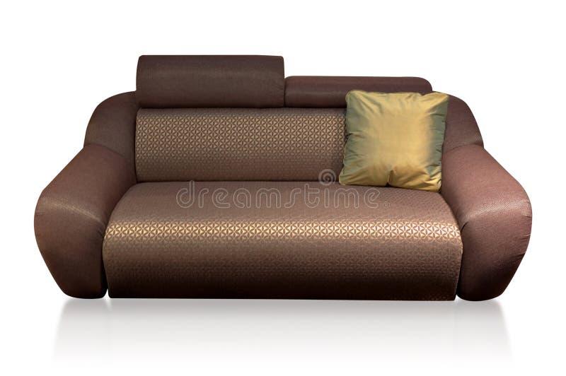 Bequemes Sofa mit Kissen lizenzfreie stockfotos