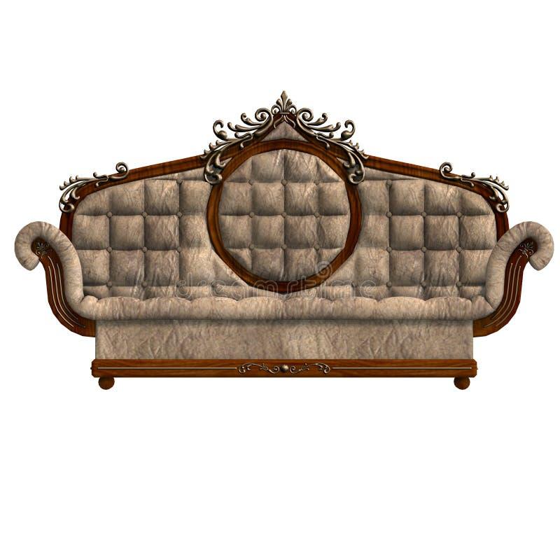 Bequemes Sofa von Louis XV. lizenzfreie abbildung