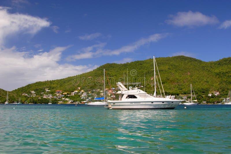 bequia łodzi zdjęcia royalty free