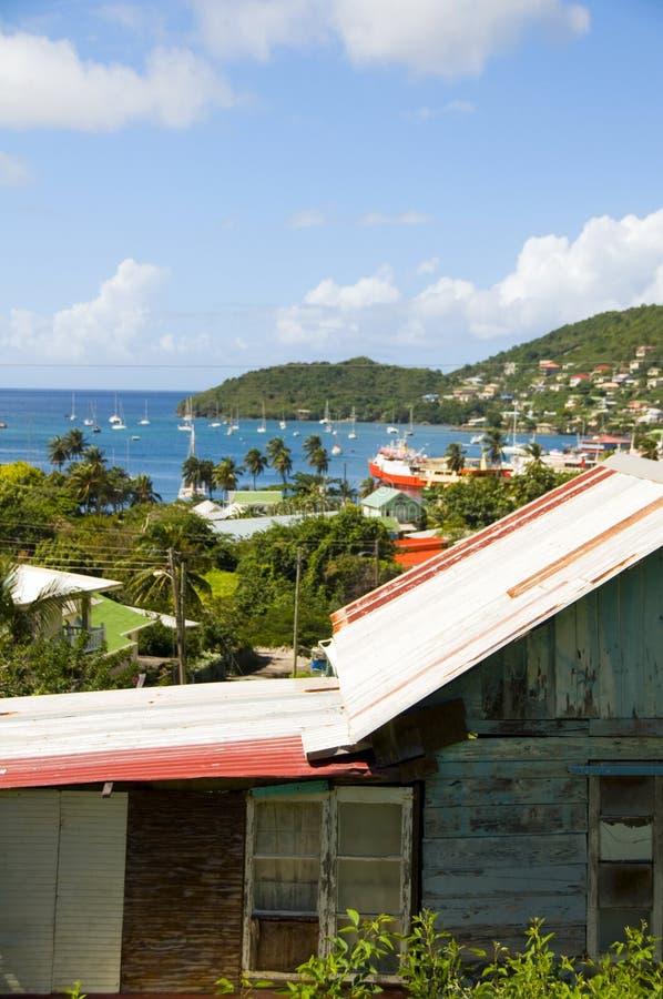 bequia Elizabeth schronienia panoramy portu st vincent zdjęcie royalty free