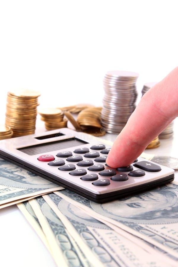 beräkna pengar arkivfoton