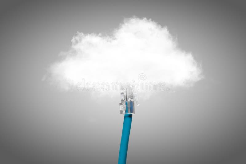 Beräknande begrepp för moln royaltyfria foton