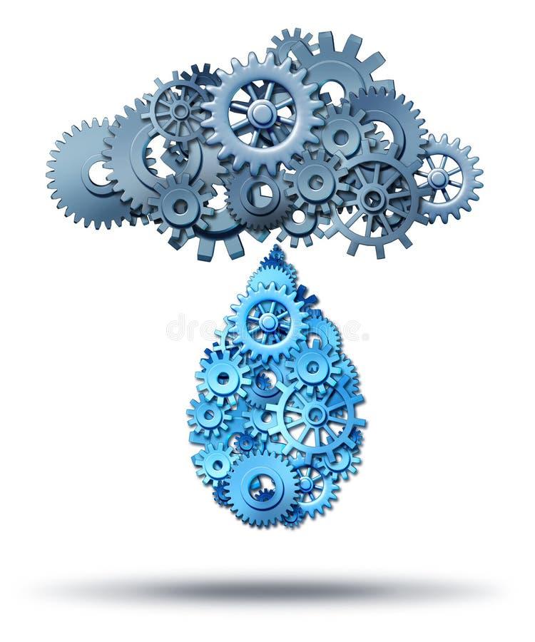 Beräknande fördelning för moln royaltyfri illustrationer