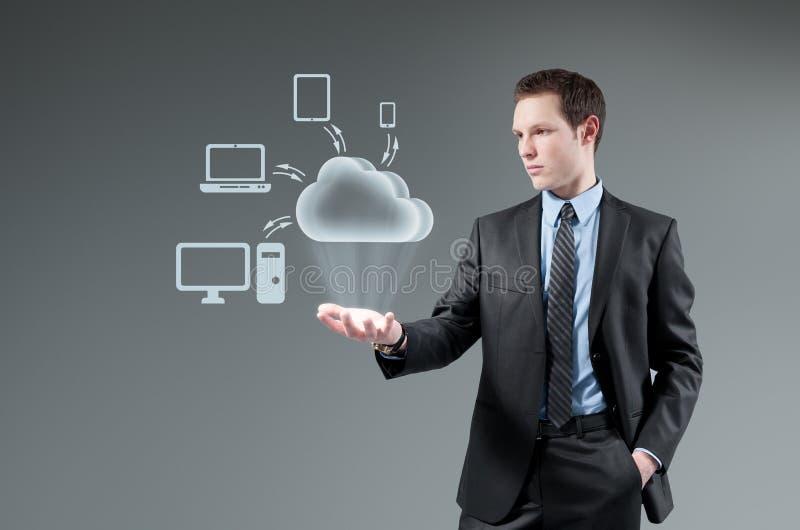 Beräknande begrepp för moln. royaltyfria foton