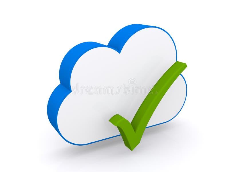 Beräknande symbol för moln stock illustrationer