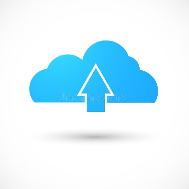 Beräknande symbol för moln royaltyfri illustrationer