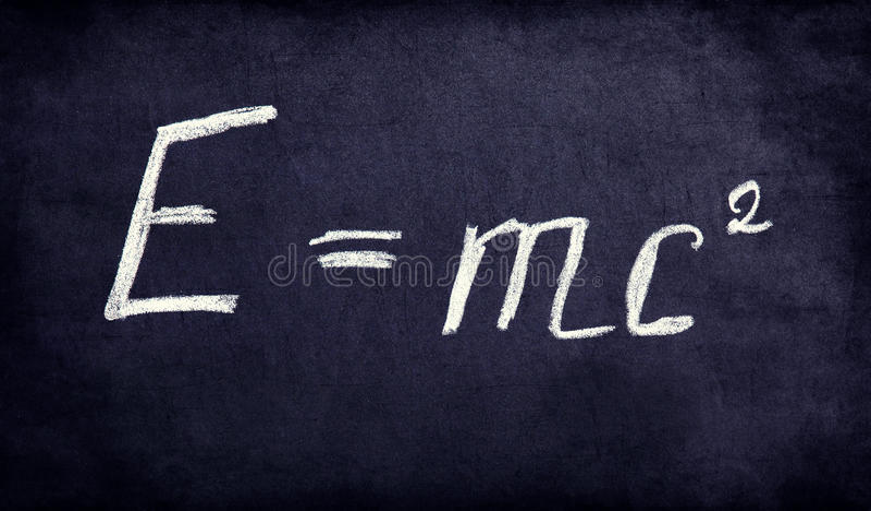 Beräkningen i fysik i retro utformar. arkivbild