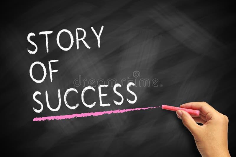 Berättelse av framgång arkivbild