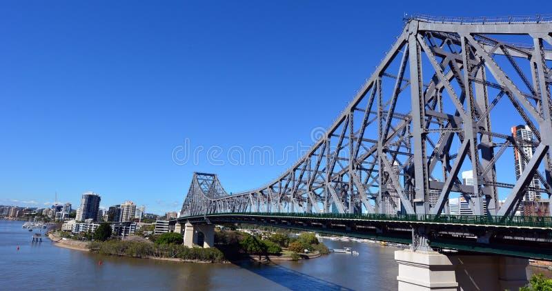 Berättelsebro - Brisbane Queensland Australien arkivfoto