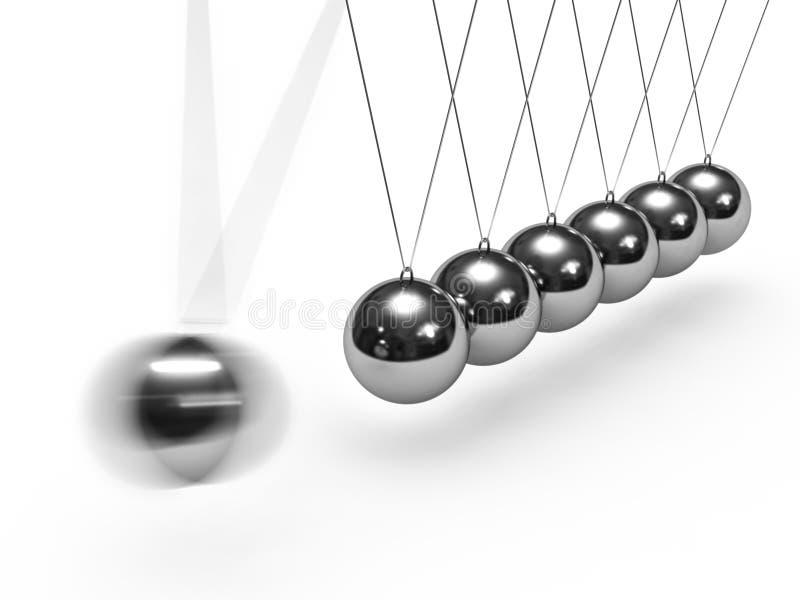 Berço de Newton de equilíbrio das esferas ilustração stock
