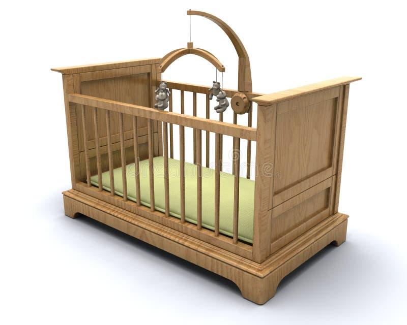 Berço para o bebê ilustração royalty free