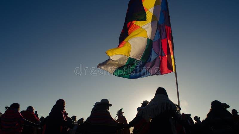 Beröm av det andean amazonic nya året royaltyfri bild