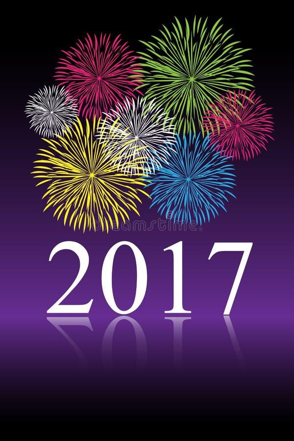 beröm för nytt år 2017 stock illustrationer