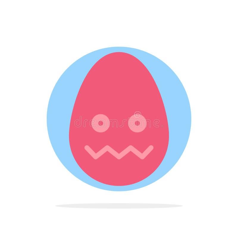 Beröm garnering, påsk, för abstrakt symbol för färg cirkelbakgrund för ägg plan stock illustrationer