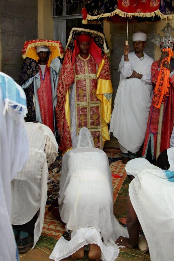 Beröm i ortodox ethiopian kristen kyrka fotografering för bildbyråer