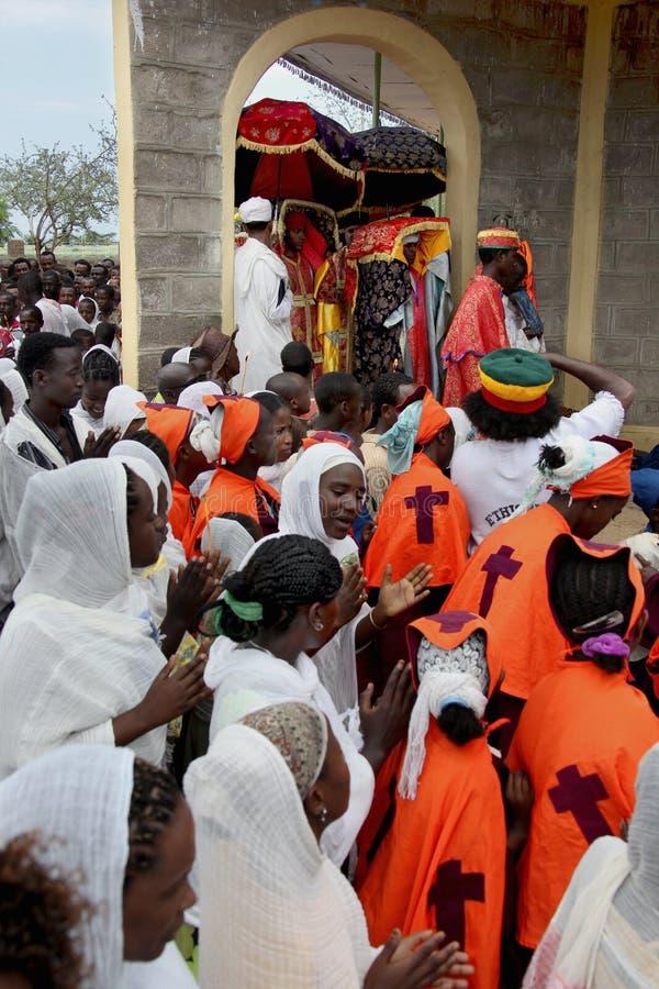 Beröm i ortodox ethiopian kristen kyrka arkivbilder