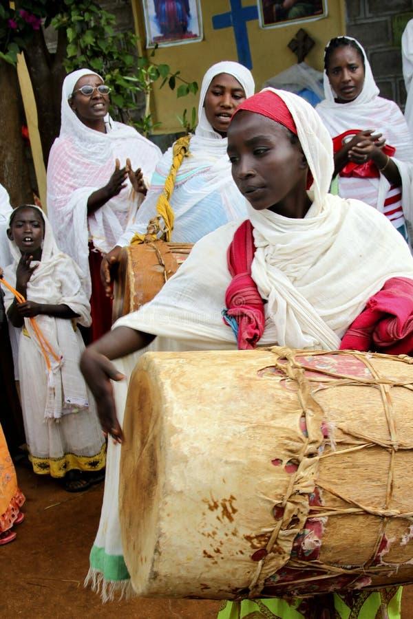 Beröm i ortodox ethiopian kristen kyrka royaltyfri fotografi