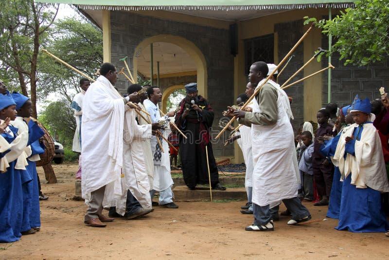 Beröm i ortodox ethiopian kristen kyrka royaltyfria foton