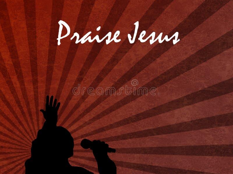 Beröm Jesus Background With Singer vektor illustrationer