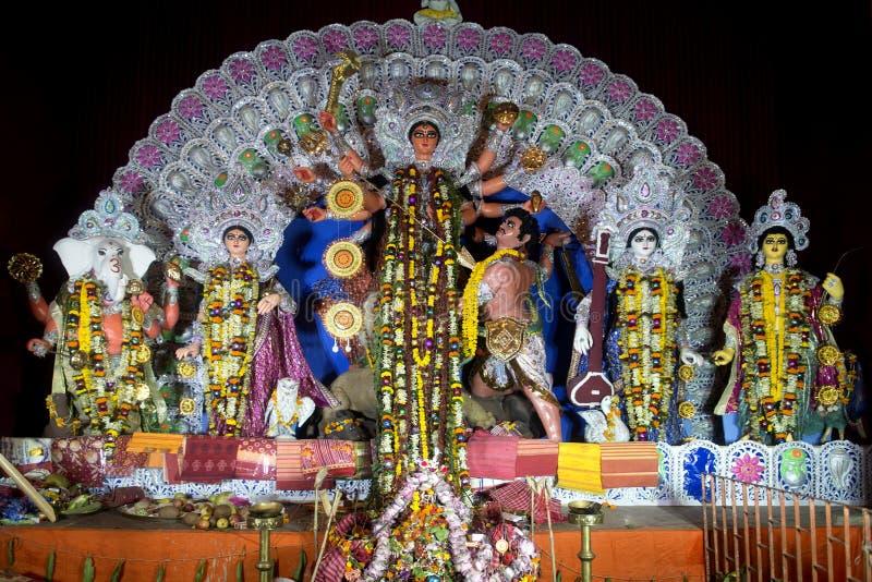 Beröm på Kolkata Durga Puja Mahotsav royaltyfria foton