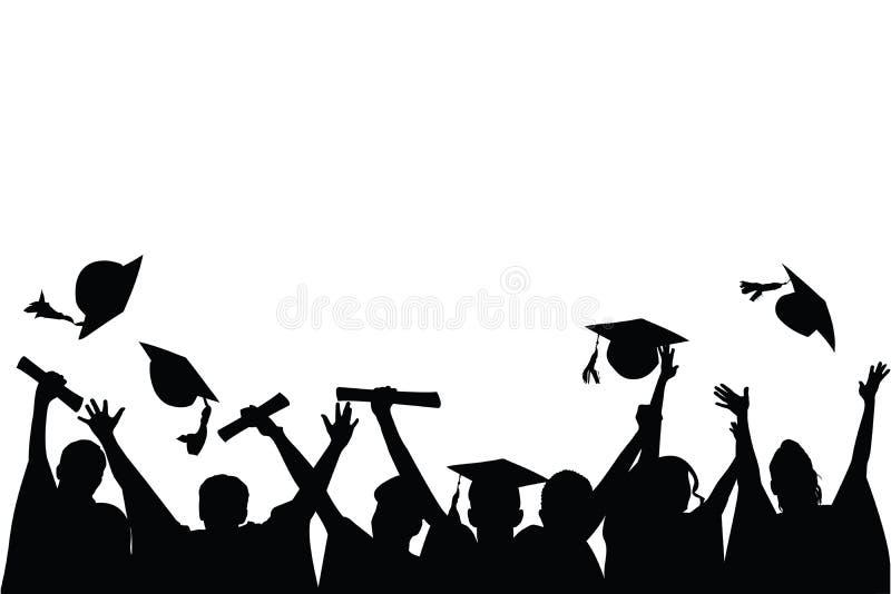 berömavläggande av examen stock illustrationer